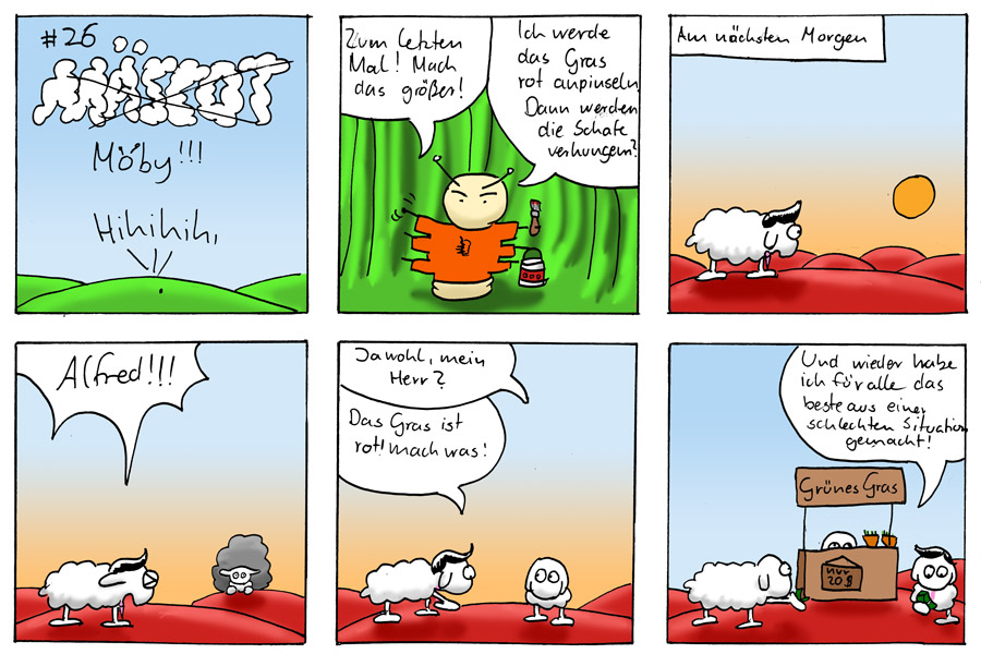 Rotes Gras - Mäscot #26