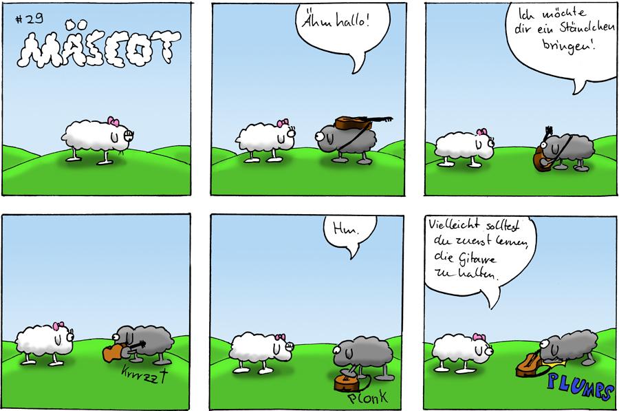Mäscot Das Schaf Kleiner Webcomic Sammlerforennet