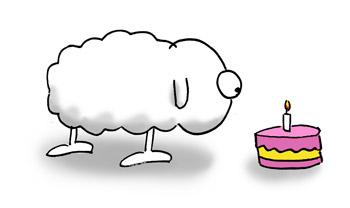 Geburtstag Mascot Das Schaf Webcomic