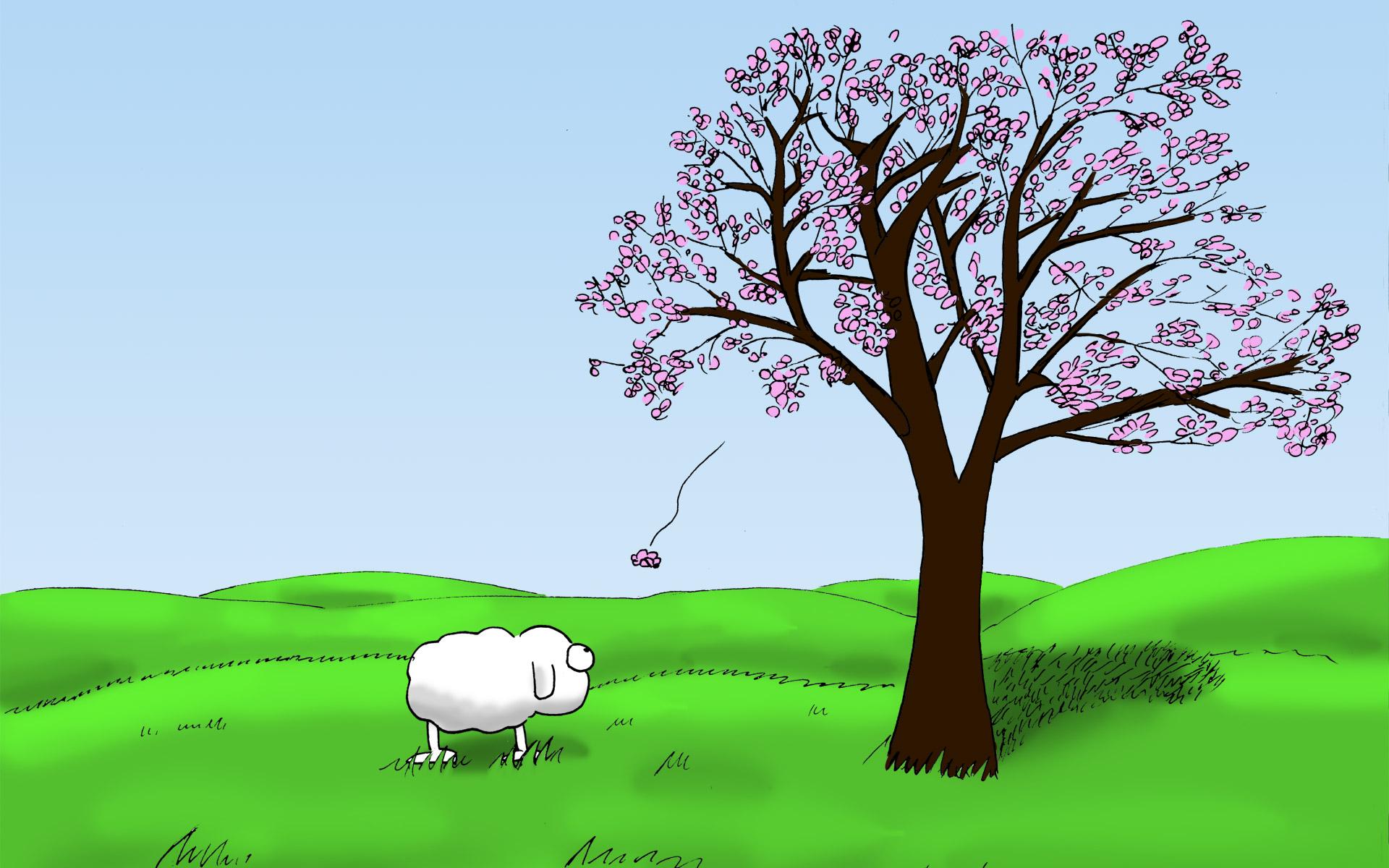 Wallpaper Mascot Das Schaf Webcomic
