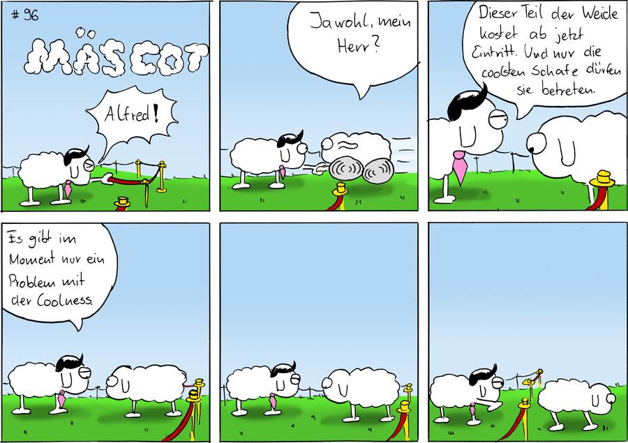 Coole Wiese Mäscot Das Schaf Webcomic Seite 9