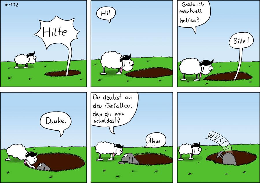 Hilfe - Mäscot das Schaf Comic #112